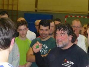 Günter Beier mittendrin