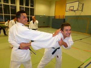 Neue DTB-Jugendtrainer Torge Hemmelskamp und Steven Martens immer gut drauf